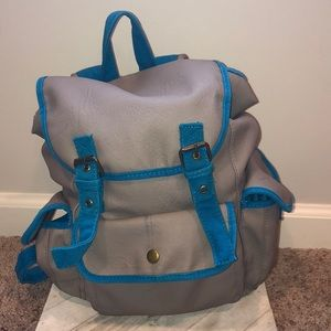 ☀️ MOSSIMO Bright Blue Faux Leather Backpack